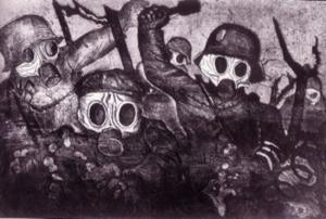 otto dix assaut sous les gaz