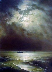 Marea Neagră în noapte - Ivan Aivazovsky