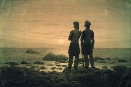 Răsărit de luna pe mare - Caspar David Friedrich