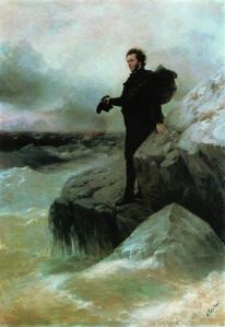 Pușkin luându-și rămas bun de la Marea Neagră- Ivan Aivazovsky