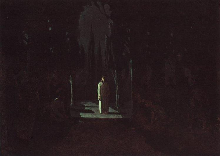 christ-in-the-garden-of-gethsemane-1901.Arkhip Kuindzhi