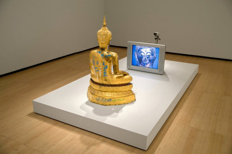 nam june paikgolden buddha nytimes.com