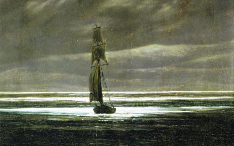 Pictorial_art_Boats_Sailing_Caspar_David_Friedrich_marea in lumina luni1zoom.me