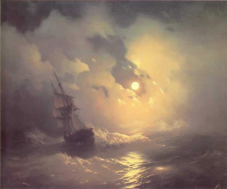 tempest on the sea aivazovskyfiveminutehistorycom